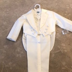 Other - New White tux with tails for baby boy